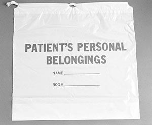 ADI Medical 40219 Patient Belonging Bag Cotton Drawstring 250/cs