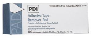"Adhesive Tape Remover Pad, 1.25"" x 2.625"", 100/bx, 10 bx/cs"