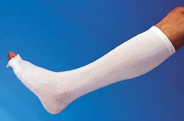 "Derma Sciences GL3000 Below Knees (BK) Protector White 158L x 3 1/2""W 12 pr/cs"
