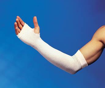 "Derma Sciences GL1000 Hand-Wrist (HW) Protector White 18L x 3""W 12 pr/cs"