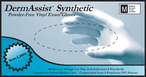 IHC 161050 Gloves Exam X-Small Vinyl Non-Sterile PF Smooth 100/bx 10 bx/cs