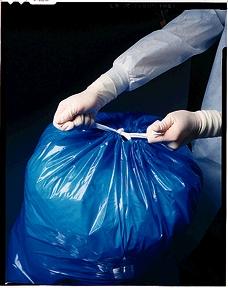 "Linen Bag, 31"" x 41"", Unlabeled, Blue, 1.5 mil, 250/cs"