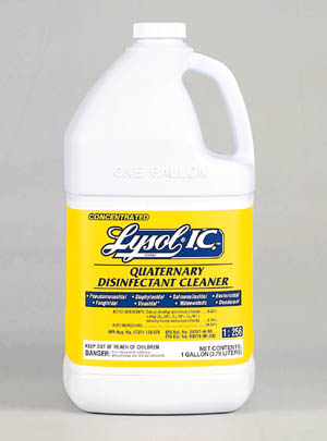 Quarternary Disinfectant Cleaner (concentrate), Gallon, 4/cs (Item is considered HAZMAT and cannot ship via Air)