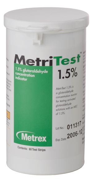 MetriTest 1-1/2, For 14 Day Use Life, 60 strips/bottle, 2 btl/cs