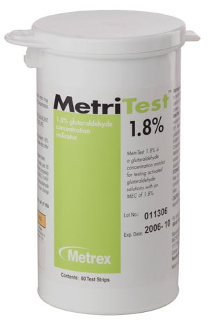 MetriTest 1.8, For 28 Day Use Life, 60 strips/bottle, 2 btl/cs