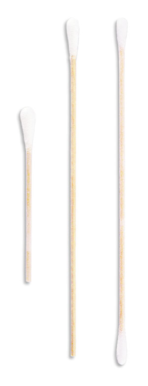 "AMD-Medicom 56225 Cotton-Tipped Applicator 6 x 1/12"" Wood Stick Tapered Tip 100/bg 10 bg/bx 10 bx/cs"