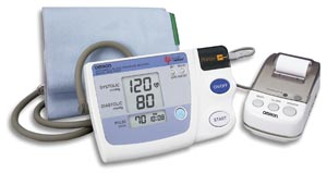 OMRON MEMORY, PRINT-OUT & GRAPH BLOOD PRESSURE MONITOR