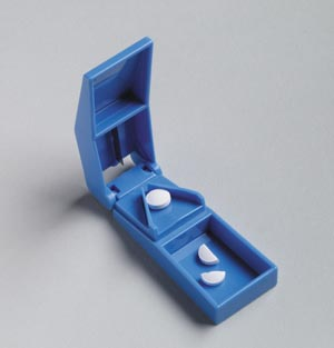 Pill Cutter, Blue, Stainless Steel Blade