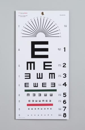 CHART EYE ILLITERATE TEST 20FT