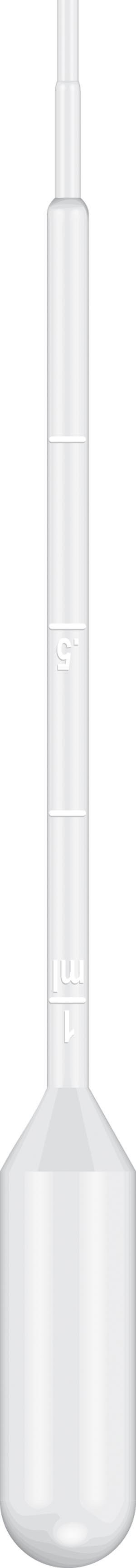 Graduated Pipet, 15cm Length, 5mL Capacity, Non-Sterile, 500/pk, 10 pk/cs