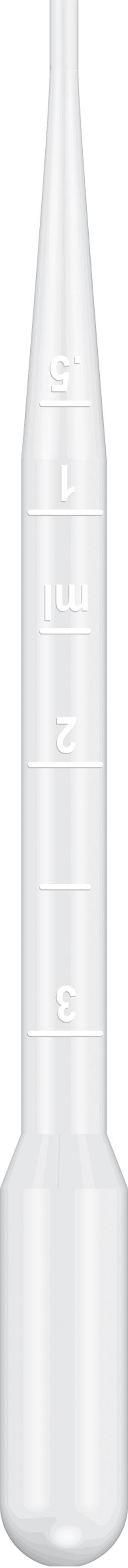 Graduated Pipet, 15.5cm Length, 7mL Capacity, Non-Sterile, 500/pk, 10 pk/cs