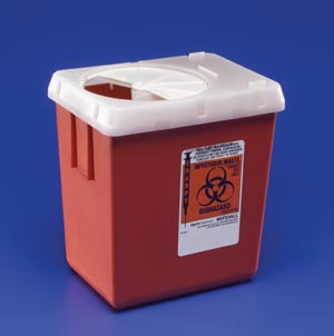 Cardinal Health 1522SA Sharps Container 2.2 Qt Red 60/cs (16 cs/plt)