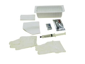 Amsino AS880 Foley Insertion Tray Prefilled 10cc Syringe of Sterile Water 20/cs