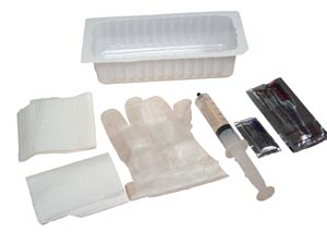 Amsino AS890 Foley Insertion Tray Prefilled 30cc Syringe of Sterile Water 20/cs