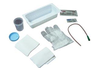 Amsino AS870 Urethral Catheter Tray 14FR Urethral PVC Catheter Sterile & Latex Free (LF) 20/cs