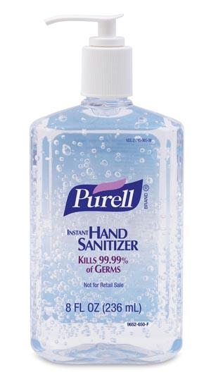 GOJO 9652-12 Instant Hand Sanitizer 8 fl oz Pump Bottle 12/cs
