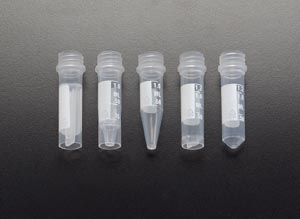 2.0mL Graduated Tube, Self-Standing, White Marking Area For Sample ID, 1000/cs