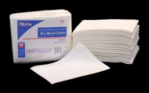 "Dukal 7710 Dry Wash Cloth 10 x 13"" 50/bg 10 bg/cs"