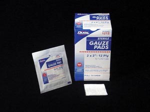 "Dukal 1212-25 Gauze Pad 2 x 2"" 12-Ply 25/bx 24 bx/cs"