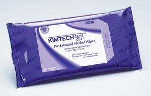 """Kimblery-Clark 6070 KIMTECH PURE W4 CL4 PreSat Alcohol Wipe White 9 x 11"""" 40/pk 10 pk/cs"""