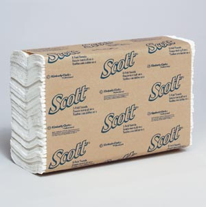 Kimblery-Clark 1510 Scott C-Fold Towels 1-Ply 200/pk 12 pk/cs