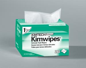"Kimblery-Clark 34155 KimWipes® EX-L Delicate Task Wipers, Disposable, Popup Box, 4½"" x 8½"", White, 280/pk, 60 pk/cs"