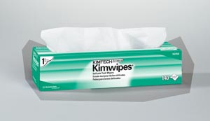 "Kimblery-Clark 34256 KC 34256 KimWipes EX-L Delicate Task Wipers Disposable Popup Box 1-Ply White 15 x 17"" 140/bx 15 bx/cs"
