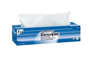 "Kimblery-Clark 34721 KimWipes EX-L Delicate Task Wipers Disposable Popup Box 15 x 17"" 2-Ply White 90/pk 15 pk/cs"