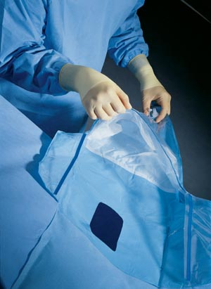 GYN/ Urology Drape, Attached Fluid Collection Pouch, Sterile, 10/cs