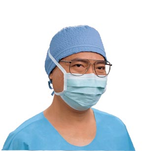 Fog-Free Surgical Mask, Blue, 50/pkg, 6 pkg/cs