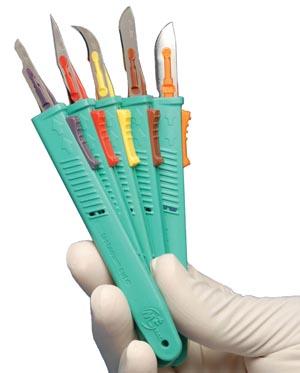 Retractable Safety Scalpel & #10 Blade, 10/bx