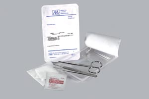 "Suture Removal Kit Includes: (1) Forceps (Adson SS 4_""), (1) Scissor (Littauer SS 4-1/2""), (1) 3"" x 3"" 4-Ply NW Gauze, (1) Alcohol Prep, 50 kit/cs"