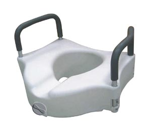 DeVilbiss RTL12027RA Elevated Toilet Seat Removable Arms 18 Width Between Front Arms