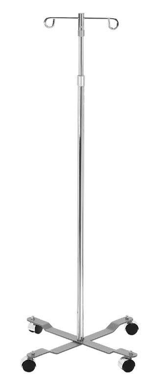 DeVilbiss 13033 IV Pole 4 Leg Removable Top 2 Hook