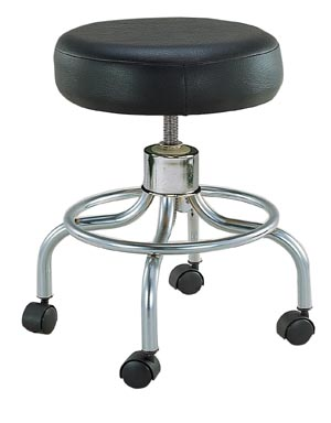 DeVilbiss 13034 Stool Round Black Seat Wheels 1/cs