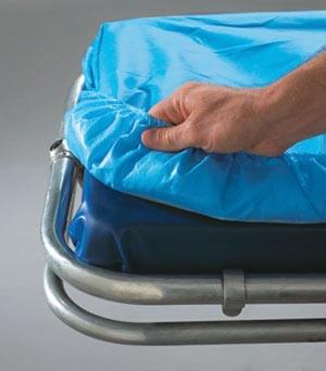 "Graham Medical 53378 SnugFit Fitted Sheet EMS Barrier 30 x 84"" Non-Woven Poly Blue 5/bg 10 bg/cs"
