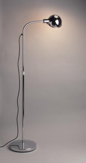 "Exam Lamp, 12"" Flexible Gooseneck, Adjusts 34""-72"", Chrome"