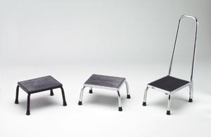 "Footstool, 11"" x 14"" Platform, Chrome"
