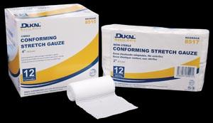 Dukal 8513 Conforming Stretch Gauze 2 Sterile 12 rl/bg 8 bg/cs