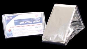 "Dukal 721 Survival Wrap 52 x 84"" Silver Heat Reflective 250/cs"