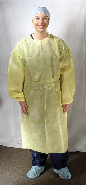 Dukal 303 Isolation Gown Impervious Yellow 10/bg 5 bg/cs