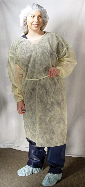 Dukal 301BL Isolation Gown Blue 10/bg 5 bg/cs