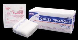 """Dukal 486-2X Gauze Sponge 8 x 4"""" X-Ray Detectable Sterile Tray 16-Ply 10/tray 48 tray/cs"""