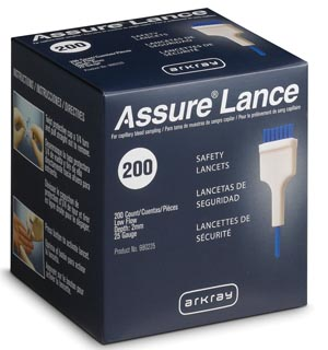 Arkray 980225 Low Flow 25G Lancets x 2mm 200/bx