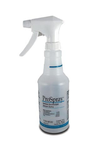 Certol PSCPS Accessories: Empty 16 oz Spray Bottle Labeled to Meet OSHA Guidelines Includes Spray Head & Squirt Top 6/cs