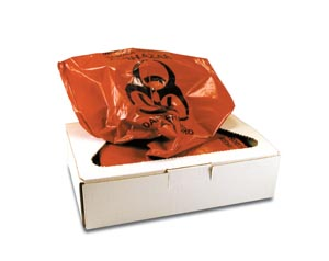 """Certol PW2010 Infectious Waste Collection Bag 25 Gal 21 x 9"""" x 43"""" 50/bx"""