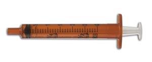 BD 305210 Oral Syringe Amber 3mL Tip Cap 100/pk 5 pk/cs