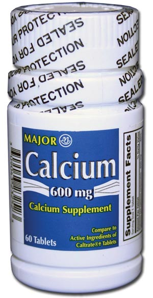 Calcium Carb Tablets, 600mg, 60s, Compare to Caltrate, NDC# 00904-3232-52