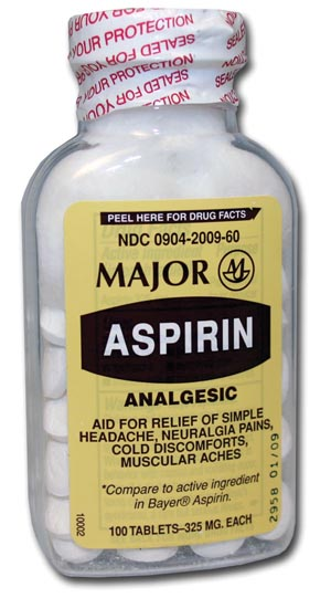 Aspirin, 325mg, 100s, Compare to Bayer, NDC# 00536-1053-01