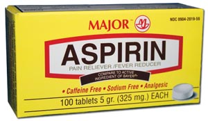 Aspirin, Film Coated, 325mg, 100s, Compare to Bayer, NDC# 00536-1054-29